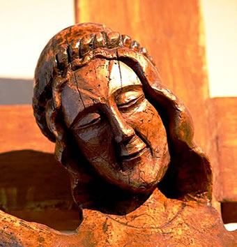 visage du Christ souriant